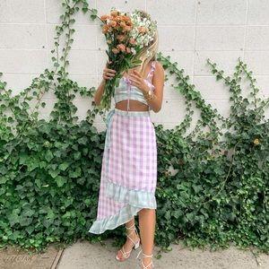 BELLEVUE Lulu's 🌸 Gingham Skirt Set